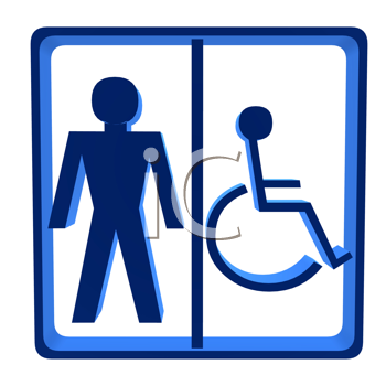 Royalty Free Clipart Image of a Male Handicap Sign