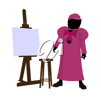 Royalty Free Clipart Image of a Young Artist