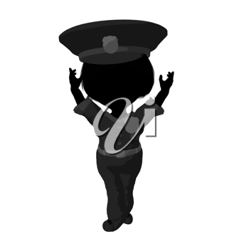 Royalty Free Clipart Image of a Little Police Officer