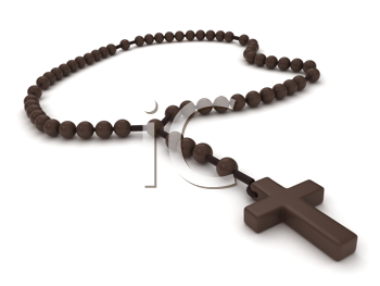 3D Illustration of a Rosary