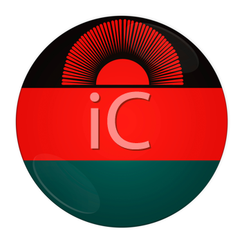 Abstract illustration: button with flag from Malawi country