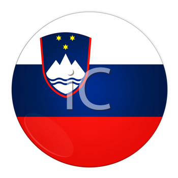 Abstract illustration: button with flag from Slovenia country