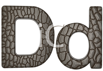 Royalty Free Clipart Image of Alligator Skin Font D Lowercase and Capital Letters