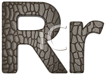 Royalty Free Clipart Image of Alligator Skin Font R Lowercase and Capital Letters