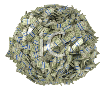 Royalty Free Clipart Image of American Money