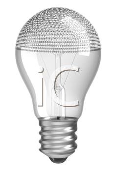 Royalty Free Clipart Image of a Diamond Incrusted Light Bulb