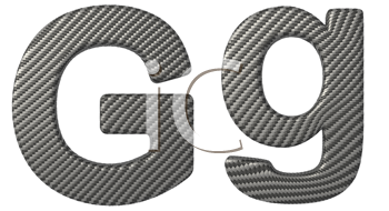 Royalty Free Clipart Image of a Capital and Lowercase G