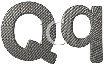 Royalty Free Clipart Image of a Capital and Lowercase Q