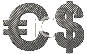 Royalty Free Clipart Image of Dollar and Euro Symbols