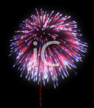 Royalty Free Clipart Image of Festive Fireworks