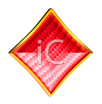 Royalty Free Clipart Image of a Diamond Card Suit