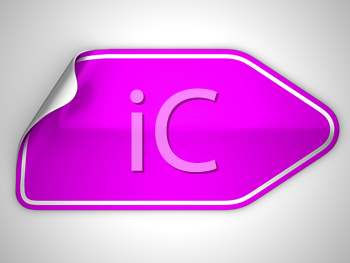 Royalty Free Clipart Image of a Bent Magenta Sticker