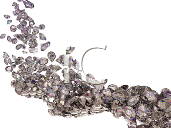 Royalty Free Clipart Image of a Background of Diamonds