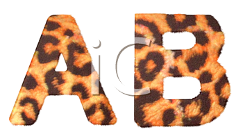 Royalty Free Clipart Image of Leopard Print A and B