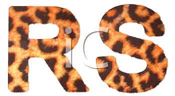 Royalty Free Clipart Image of Leopard Print R and S