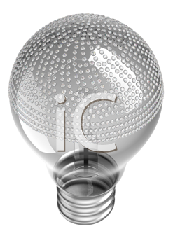 Royalty Free Clipart Image of a Lightbulb Incrusted With Diamonds