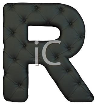 Royalty Free Clipart Image of a Black Leather Font R
