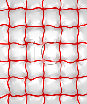 Royalty Free Clipart Image of a Buttoned Leather Pattern