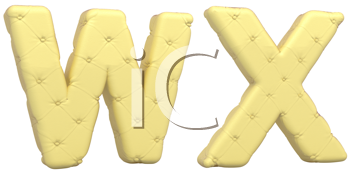 Royalty Free Clipart Image of Beige Leather Font