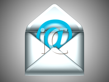 Royalty Free Clipart Image of an Email Symbol in an Envelope