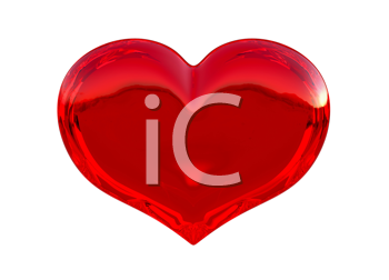 Royalty Free Clipart Image of a Red Heart