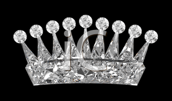 Royalty Free Clipart Image of a Diamond Crown