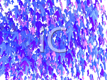 Royalty Free Clipart Image of Colorful Arrows Pointing Up