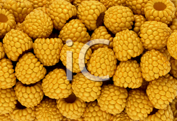 Royalty Free Clipart Image of Yellow Raspberries