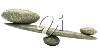 Balancing: Pebble stability scales with large and small stones