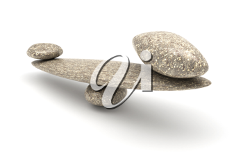 Harmony and Balance: Pebble stability scales with large and small stones