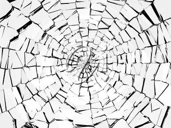 Damage and wreck: abstract broken glass pattern. Large resolution
