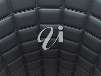 Black leather pattern arch shape with rectangles. Large resolution