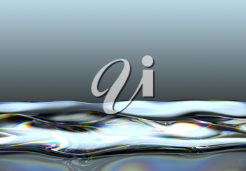Liquid fuel splashes and waves over gradient background