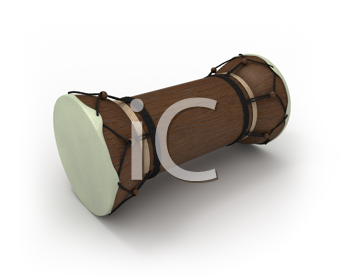 Royalty Free Clipart Image of an African Talking Drum