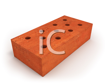 Royalty Free Clipart Image of a Brick