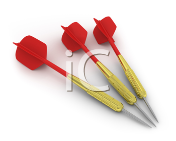 Royalty Free Clipart Image of Three Darts