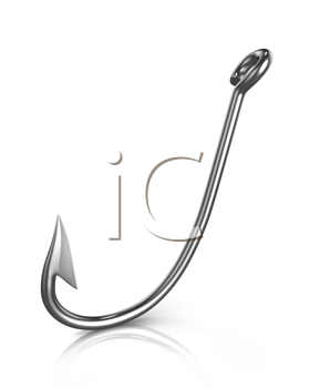 Royalty Free Clipart Image of a Fishing Hook