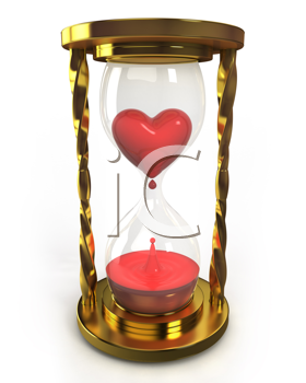 Royalty Free Clipart Image of an Hourglass With Blood