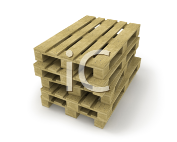 Royalty Free Clipart Image of Wood Pallets