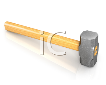 Royalty Free Photo of a Metal Sledge Hammer