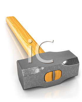 Royalty Free Clipart Image of a Sledgehammer