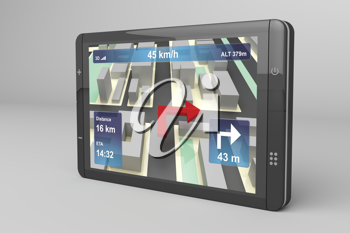 Royalty Free Clipart Image of a GPS