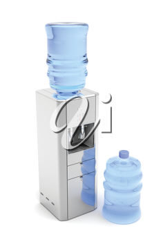 Royalty Free Clipart Image of a Water Dispenser
