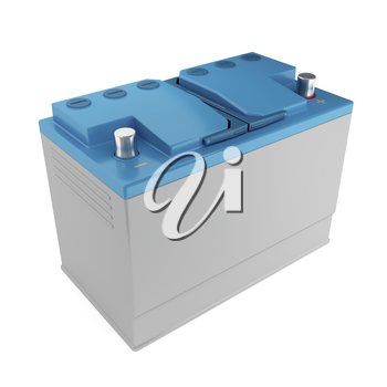 Car battery - 3d rendered image