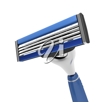 Close-up of a safety razor