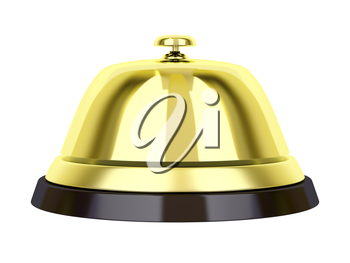 Royalty Free Clipart Image of a Golden Reception Bell