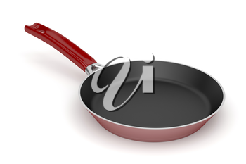 Frying pan on white background