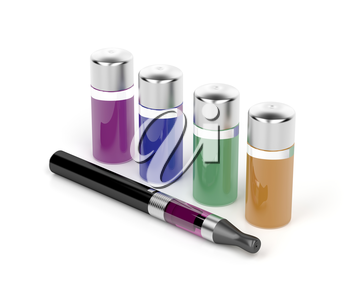 Electronic cigarette and variety refill bottles
