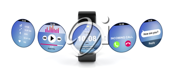 Smart watch with different screens