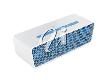 Wireless speaker on white background